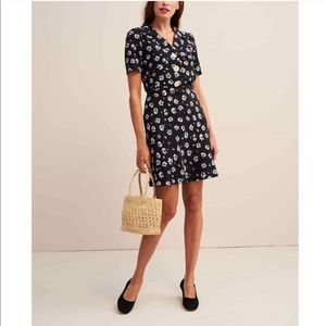 Rouje Monique Floral Mini Dress Jonquil Print Navy